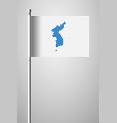 flag of united korea national flag on flagpole vector image