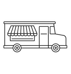 Food truck icon outline style vector