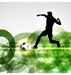 Football or soccer player background vector