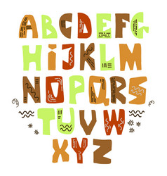 funny letters vector image