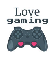 gamer slogan for apparel design vector image