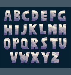 grey and dark violet holographic font vector image