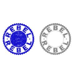 Grunge rebel textured stamp seals vector