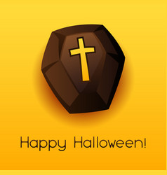 happy halloween coffin vector image