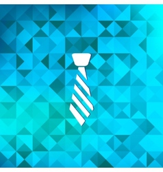 Hipster tie iconTriangle background vector