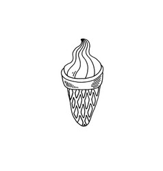 ice cream sketch drawing icon summer themed vector image