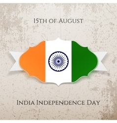 india independence day paper tag vector image