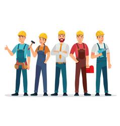 Industrial workers professional technician vector