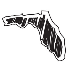 Isolated sketch state florida vector