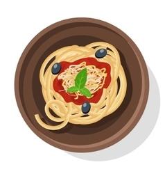 Italian pasta Isolated on vector