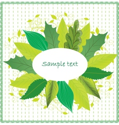 Leaves border vector