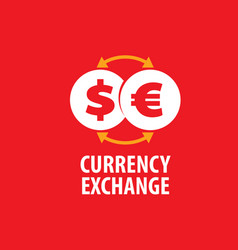 logo currency exchange vector image