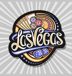 logo for las vegas vector image