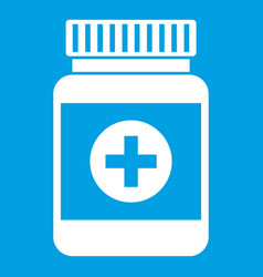 medicine bottle icon white vector image