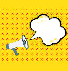 megaphone with speech bubble vector image