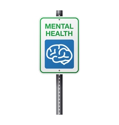 Mental Health Sign vector