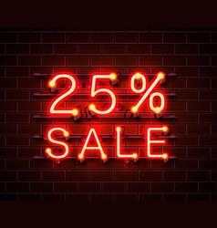 neon 25 sale vector image