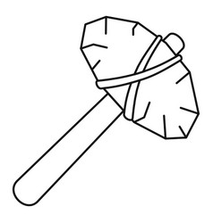 old stone hammer icon outline style vector image