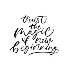Optimistic lifestyle slogan calligraphy vector