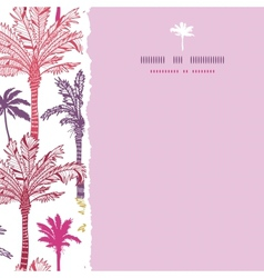 Palm trees seamless square torn pattern background vector image