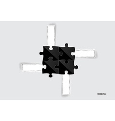 Paper cut of Puzzle vector image