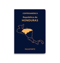 Passport honduras citizen id template vector