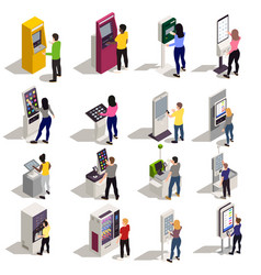 People and interfaces set vector