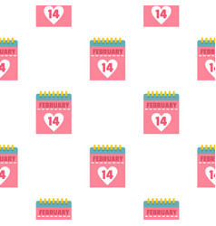 Pink valentines day calendar pattern seamless vector