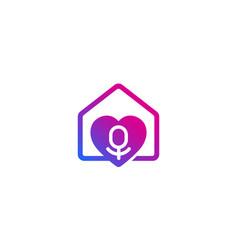 Podcast logo on white vector