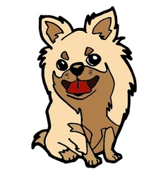 Puppy cartoon isolated on white vector