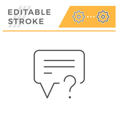 question editable stroke line icon vector image