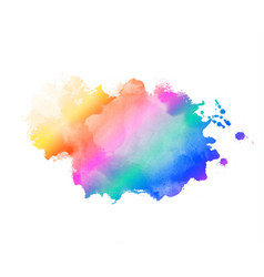 rainbow color abstract watercolor stain texture vector image