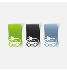 realistic design element eco car vector image