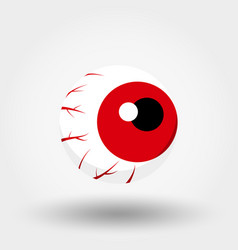 Red eye icon flat vector
