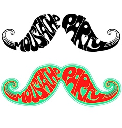 Retro party Moustaches isolated on white vector