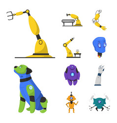 Robot and factory symbol vector