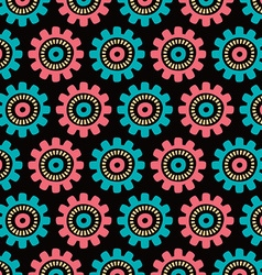 seamless floral patterned background vector image