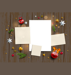 seasonal festive mock up vector image