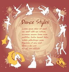 Set dancing silhouettes vector