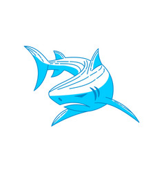 shark logo design icon outline isolated vector image
