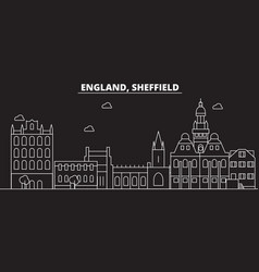 sheffield silhouette skyline great britain vector image