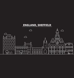 Sheffield silhouette skyline great britain vector