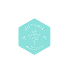 simple abstract botanical label emblem or logo vector image