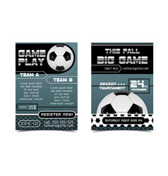 soccer poster design football ball concept vector image