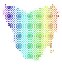 Spectral cirle dot tasmania island map vector