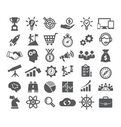 Startup icons set vector