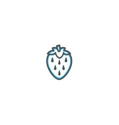 strawberry icon design gastronomy icon vector image