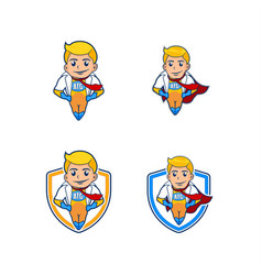 super herro mascot vector image