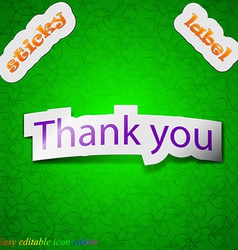 Thank you icon sign Symbol chic colored sticky vector