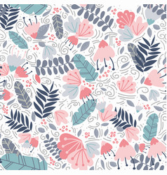 tropical trendy seamless pattern with leave vector image